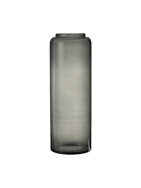 Bodenvase Right aus Glas, Glas, Grau, Ø 25 x H 70 cm