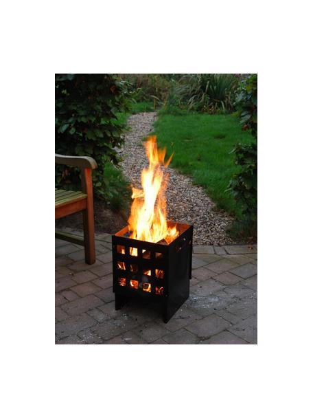 Cestino del fuoco Grann, Metallo, Nero, Larg. 30 x Alt. 40 cm