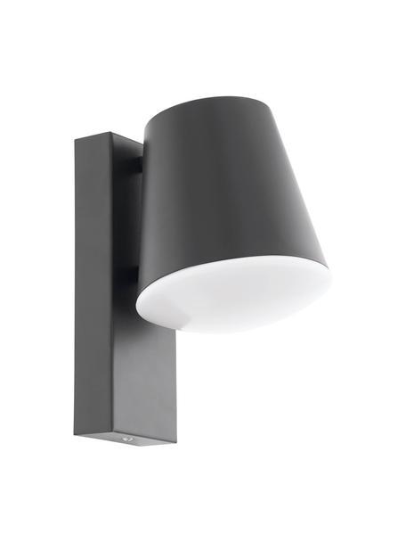 Applique da esterno color antracite Caldiero, Paralume: acciaio zincato, Antracite, Larg. 14 x Alt. 24 cm