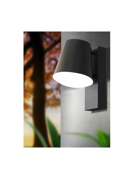 Outdoor wandlamp Caldiero in antraciet, Lampenkap: Verzinkt staal, Diffuser: kunststof, Antraciet, 14 x 24 cm
