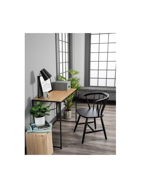 Lampa biurkowa Noble, Czarny, odcienie złotego, S 25 x W 46 cm