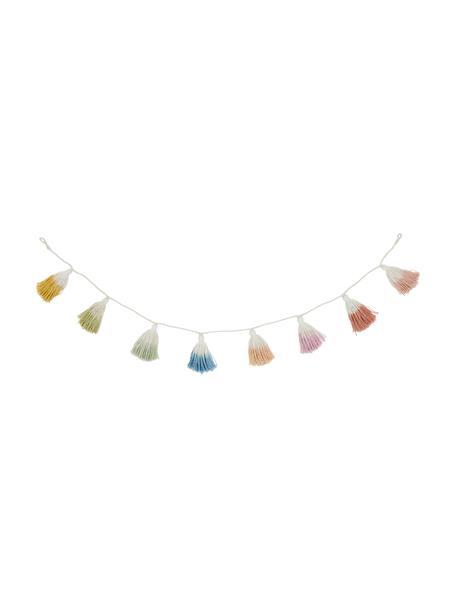 Mehrfarbige Girlande Tai mit Quasten, 100% Baumwolle, Mehrfarbig, L 150 cm