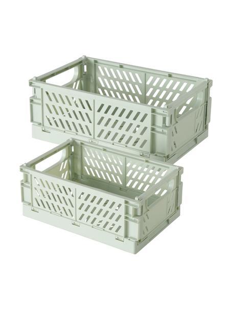 Aufbewahrungsboxen-Set Malmo, 2-tlg., Kunststoff, recycelt, Türkis, Set mit verschiedenen Größen