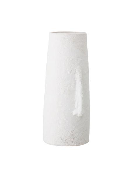 Jarrón decorativo grande de terracota Nose, Terracota, Blanco, An 20 x Al 40 cm