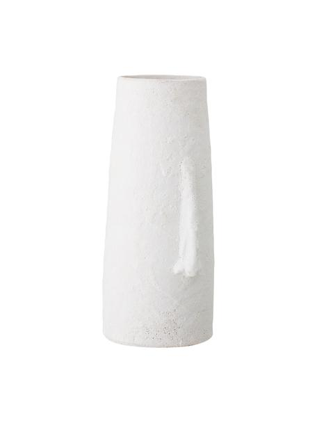 Vaso viso grande in terracotta Nose, Terracotta, Bianco, Larg. 20 x Alt. 40 cm