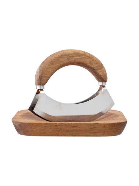 Komplet z nożem do ziół Cut, 2 elem., Drewno akacjowe, stal szlachetna, Drewno akacjowe, stal szlachetna, Komplet z różnymi rozmiarami