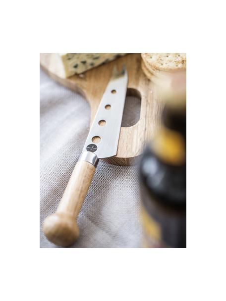 Cuchillo de queso Henny, Acero inoxidable, madera de roble, Roble, acero, L 21 cm