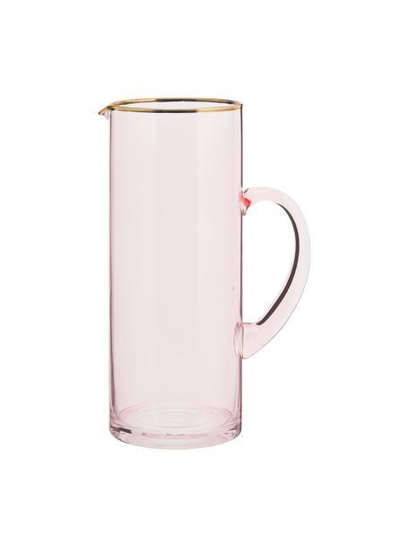 Karaf Chloe 1,6 L, Glas, Perzikkleurig, H 25 cm