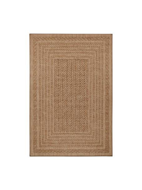Tappeto da interno-esterno effetto juta Limonero, Polipropilene, Beige, marrone, Larg. 80 x Lung. 150 cm (taglia XS)