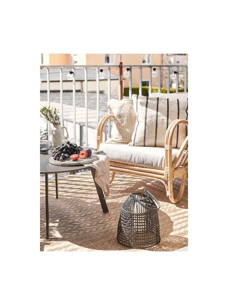 In- &  outdoor vloerkleed Limonero in juten look, 100% polypropyleen, Beige, bruin, B 80 x L 150 cm (maat XS)