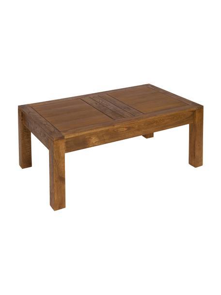 Tavolino da salotto in legno con contenitore Ohio, Legno lunare, Marrone, Larg. 110 x Alt. 65 cm