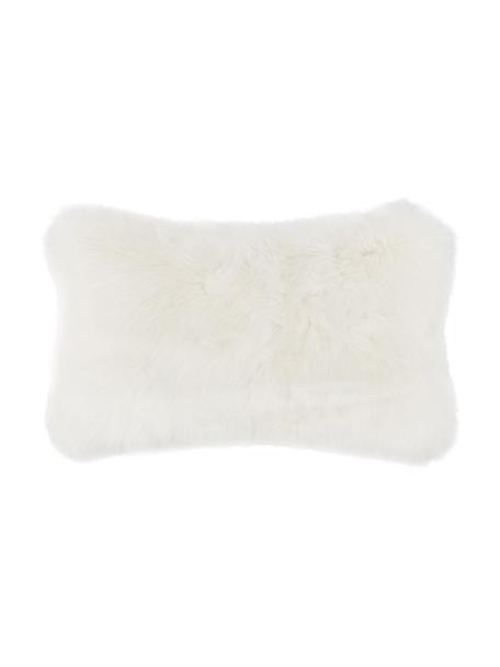 Poszewka na poduszkę ze sztucznego futra Mathilde, Kremowy, S 30 x D 50 cm