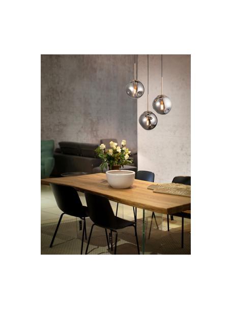 Lampada a sospensione in vetro Spada, Paralume: vetro, Baldacchino: materiale sintetico, Ottonato, grigio, Ø 40