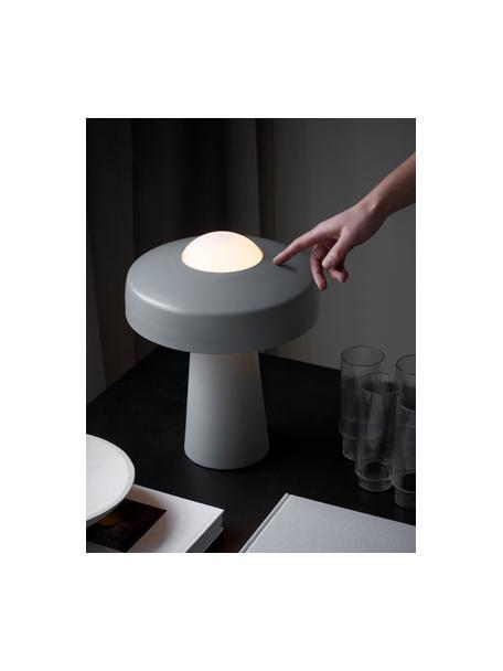 Design Tischlampe Time mit Touch-Funktion, Lampenschirm: Metall, beschichtet, Grau, Weiss, Ø 27 x H 34 cm