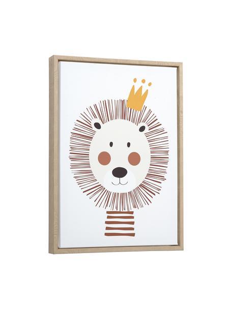 Ingelijste digitale print Irini, Lijst: hout, Afbeelding: canvas, MDF, Bruin, multicolour, 30 x 42 cm