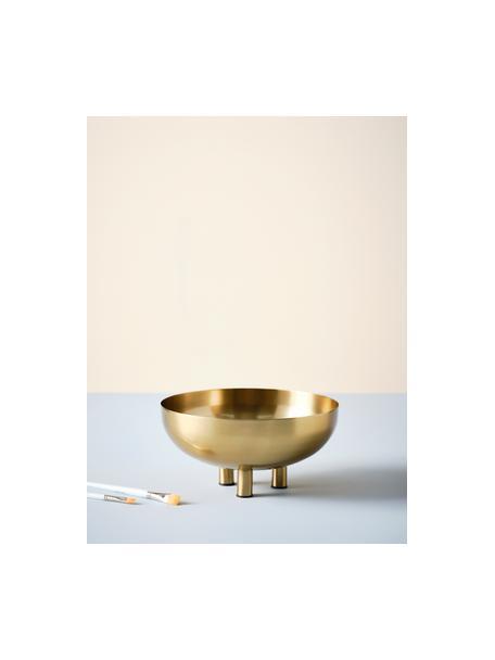 Decoratieve schaal Paws, Gecoat metaal, Messingkleurig, Ø 30 x H 14 cm