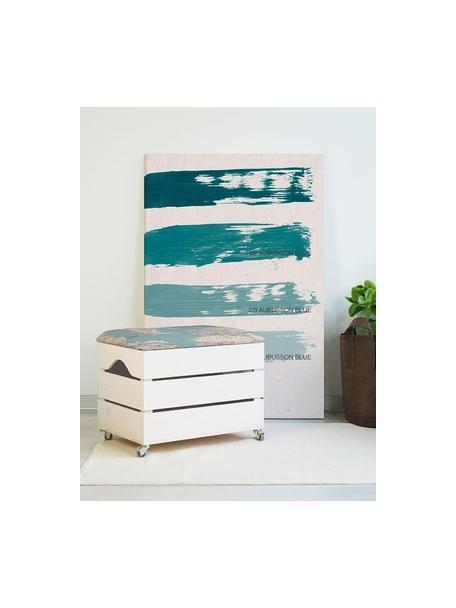 Puf Ber, Tapizado: tela, Estructura: madera de pino, Multicolor, An 50 x Al 35 cm