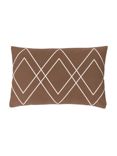 Poszewka na poduszkę w stylu boho Ausel, 100% bawełna, Brązowy, S 30 x D 50 cm