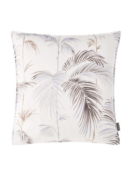 Kissenhülle Sahara mit Palmenmotiv, 100% Baumwolle, Weiß, Braun, Hellblau, 50 x 50 cm