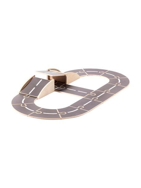 Straßensystem Aiden, Holz, Grau, Weiß, Holz, 69 x 112 cm