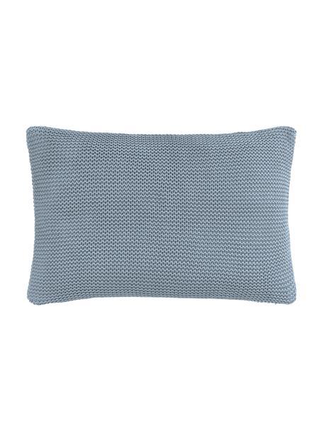 Federa arredo a maglia in cotone biologico blu Adalyn, 100% cotone biologico, certificato GOTS, Blu, Larg. 30 x Lung. 50 cm