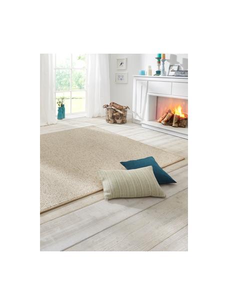 Teppich Lyon mit Schlingen-Flor, Flor: 100% Polypropylen Rücken, Creme, melangiert, B 140 x L 200 cm (Größe S)