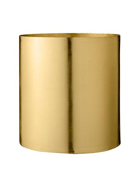 Großer Übertopf Sharin aus Metall, Metall, vermessingt, Messing, Ø 22 x H 23 cm