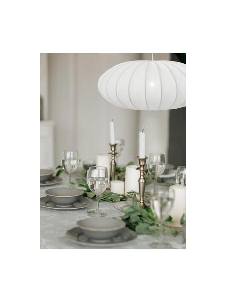 Pendelleuchte Mamsell aus Stoff, Lampenschirm: 60% Polyester, 40% Rayon, Baldachin: Kunststoff, Weiss, Ø 55 x H 21 cm