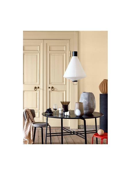 Moderne Pendelleuchte Ritta aus Papier, Lampenschirm: Papier, Weiss, Schwarz, Ø 47 x H 68 cm