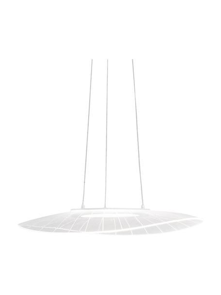 Design LED hanglamp Vela, Lampenkap: metaal, methacrylaat, Baldakijn: gecoat metaal, Wit, B 59  x D 43 cm