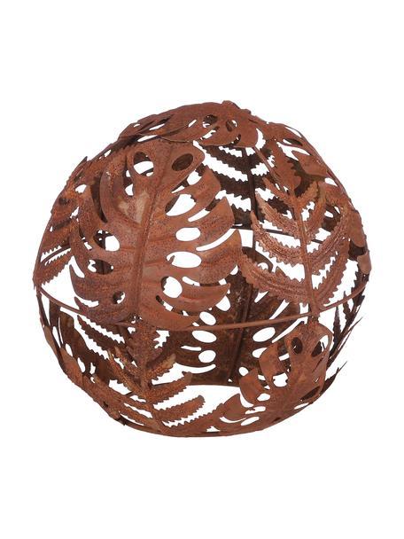 Decoratief object Bolka, Gecoat metaal, Roodbruin, Ø 17 x H 17 cm