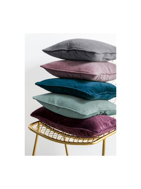 Funda de cojín de terciopelo Dana, 100%terciopelo de algodón, Palo rosa, An 30 x L 50 cm