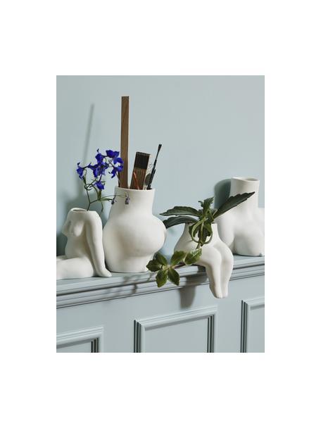 Design-Vase Avaji in Weiß, Keramik, Weiß, 16 x 20 cm