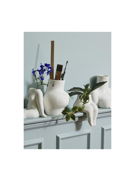 Wazon Avaji, Ceramika, Biały, S 16 x W 20 cm