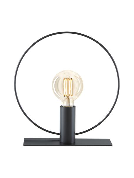 Mała lampa stołowa industrial Pria, Czarny, Ø 30 x W 33 cm