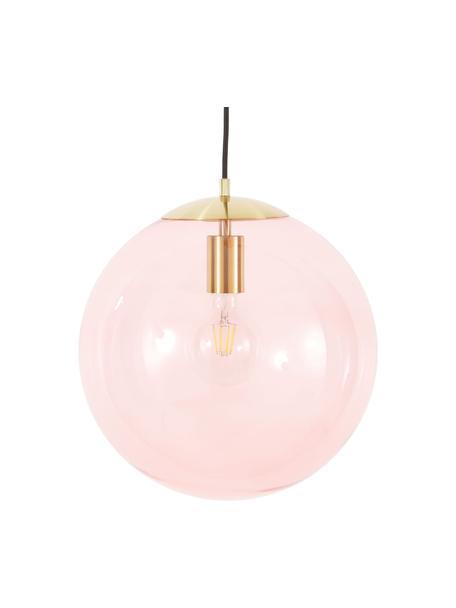 Lampada a sospensione in vetro Bao, Paralume: vetro, Baldacchino: metallo zincato, Rosa, Ø 35 cm