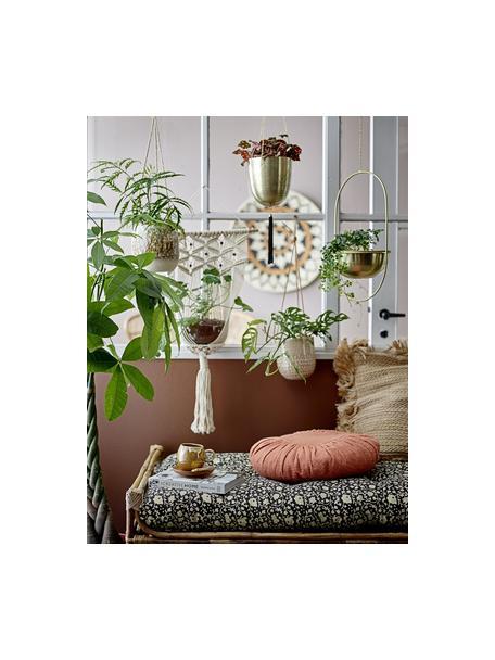 Hangende plantenpot Hans, Gecoat metaal, Messingkleurig, Ø 15 x H 17 cm