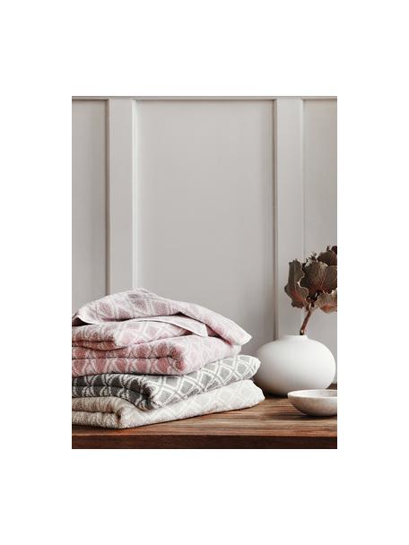 Set 3 asciugamani reversibili Ava, Sabbia, bianco crema, Set in varie misure