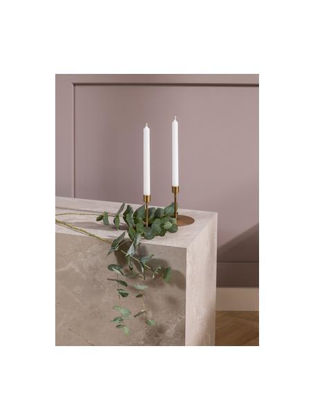 Candela a bastone Stick 4 pz, 95% cera paraffinica, 5% cera di soia, Bianco, Ø 2 x Alt. 25 cm