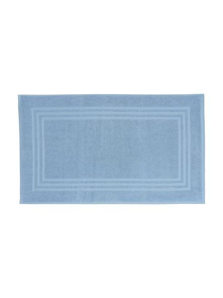 Tappeto bagno in tinta unita Gentle, Cotone, Blu ghiaccio, Larg. 50 x Lung. 80 cm