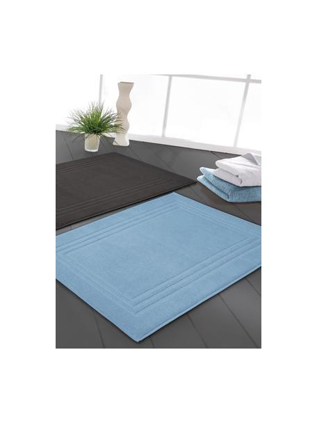 Badmat Gentle, 100% katoen, IJsblauw, 50 x 80 cm