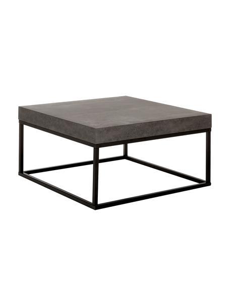 Stolik kawowy z imitacją betonu Ellis, Blat: lekka struktura plastra m, Stelaż: metal lakierowany, Imitacja betonu, S 75 x W 38 cm