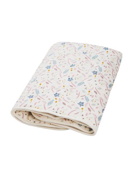 Manta Pressed Leaves, Tapizado: 100%algodón ecológico, c, Crema, rosa, azul, gris, amarillo, An 100 x L 100 cm