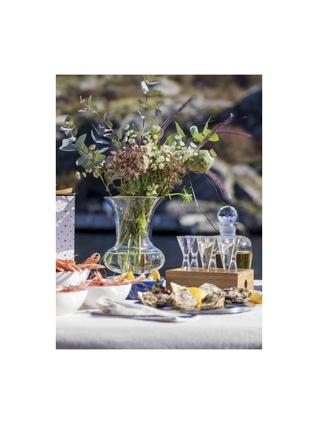 Set 7 bicchieri liquore in vetro soffiato con scatola Semon, Vetro soffiato, legno di quercia, Trasparente, legno di quercia, Ø 4 x Alt. 12 cm
