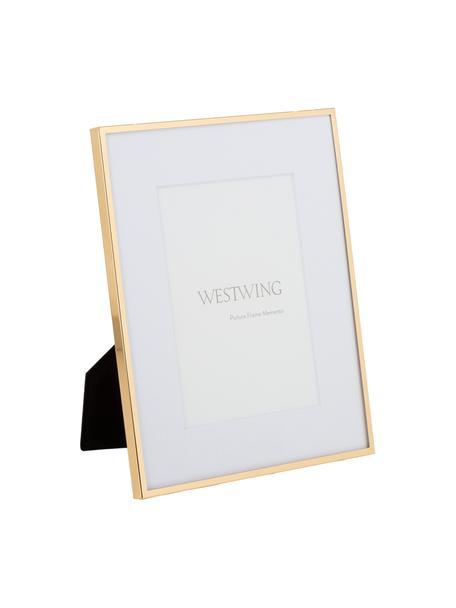 Bilderrahmen Memento, Rahmen: Eisen, hochglanz lackiert, Front: Glas, spiegelnd, Goldfarben, 20 x 24 cm