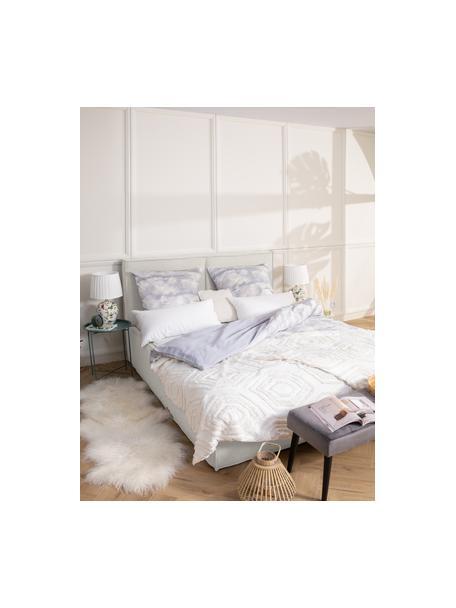Letto imbottito in tessuto bianco crema Dream, Rivestimento: 100% poliestere (tessuto , Tessuto beige, 140 x 200 cm