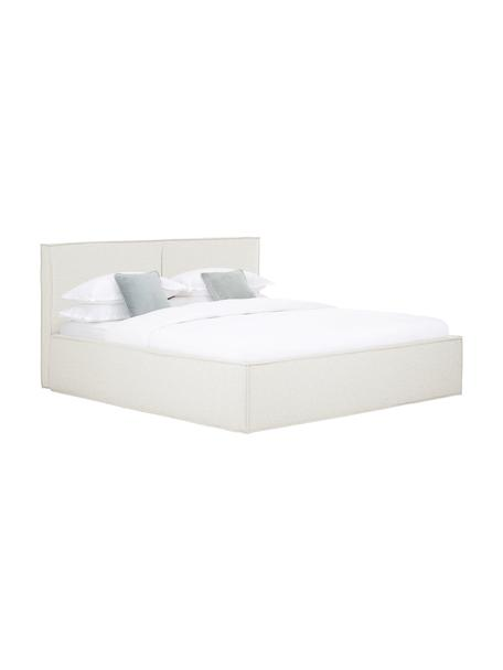 Cama tapizada Dream, Estructura: madera de pino maciza y p, Tapizado: poliéster (texturizado) , Tejido blanco crema, 140 x 200 cm