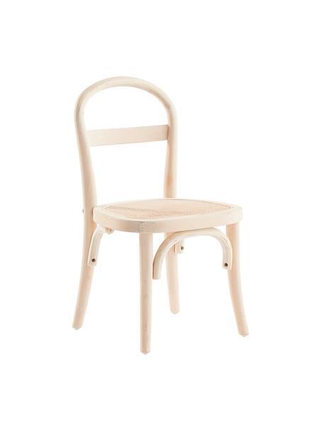 Holz-Kinderstühle Rippats mit Wiener Geflecht, 2 Stück, Gestell: Birkenholz, Sitzfläche: Rattan, Beige, B 33 x T 35 cm
