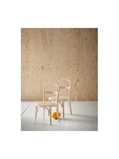 Kinderstoelen Rippats, 2 stuks, Berkenhout, rotan, Berkenhoutkleurig, rotankleurig, B 33 x D 35 cm