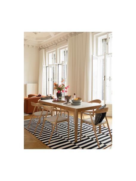 Stół do jadalni z imitacją marmuru i ceramicznym blatem Jackson, Blat: kamień ceramiczny z imita, Biały z imitacją marmuru, S 180 x G 90 cm